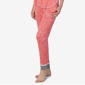 Layla Women's Printed Contrast-Trim Pajama Pants